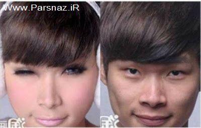 عکس های دیدنی مردی که با آرایش تبدیل به زن زیبایی شد