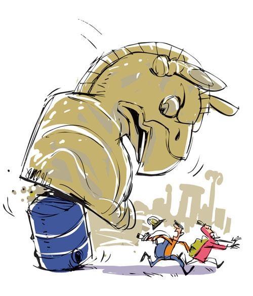 گردشگری نفتی! / کاریکاتور