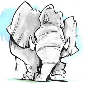 از دماغ فیل افتادن یعنی چی