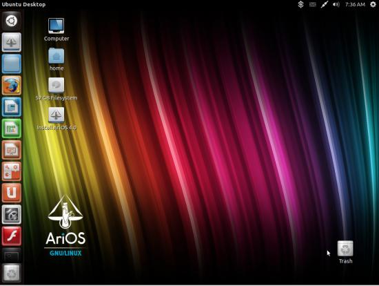 VLC 2.0.3. GIMP 2.8.2. Firefox 15.0.1. AriOS-4.0-i386.iso.