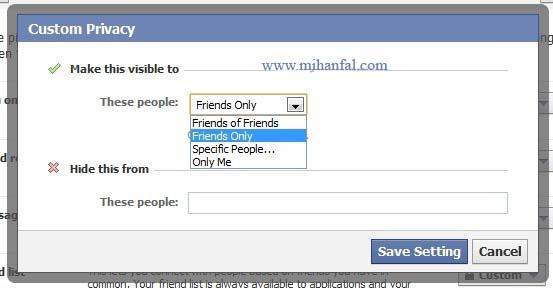 4362 پنهان کردن لیست دوستان در فیسبوک