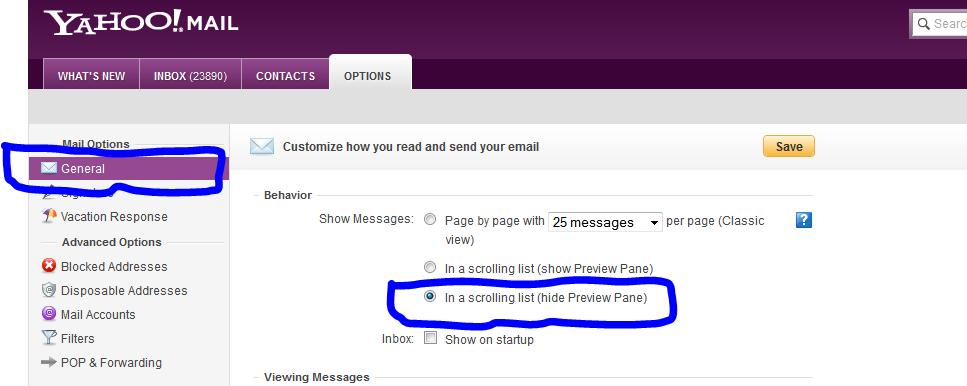 چطوری تمام ایمیل ها را از صندوق ایمیل یاهو حذف کنیم؟
