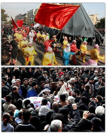 عکس های ۵ آذر ۹۱ : تهران در عاشورای حسینی