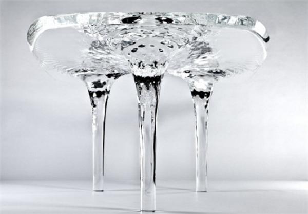طراحی جالب میز پذیرایی مواج + تصاویر