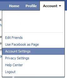 نحوه حذف کامل پروفایل در فیس بوک