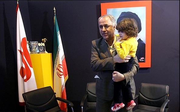 حاجی بابایی و فرزندش + عکس