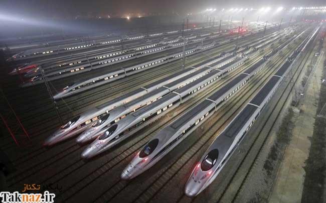 مهمانداران زن در قطارهای پرسرعت چین (+ تصاویر )