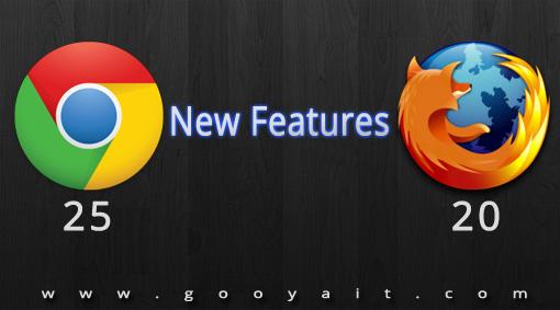 اضافه شدن قابلیت های جدید به کروم ۲۵ و فایرفاکس ۲۰