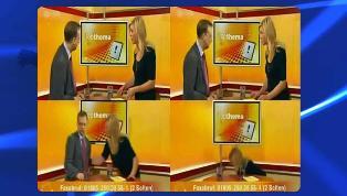 مرگ در یک برنامه زنده تلویزیونی!! + عکس