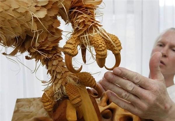 مجسمه های چوبی بسیار زیبا + عکس
