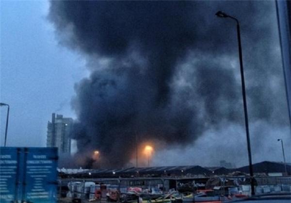 سقوط بالگرد در مرکز شهر لندن + عکس
