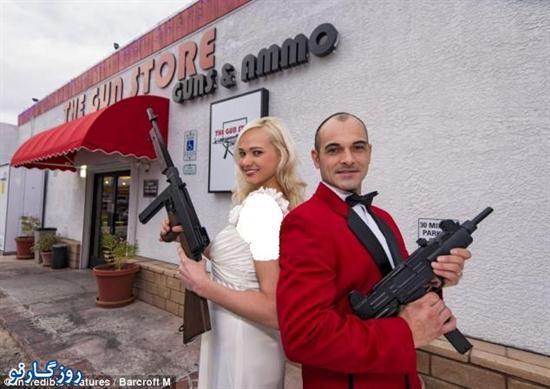 عروسی متفاوت در لاس وگاس! + تصاویر