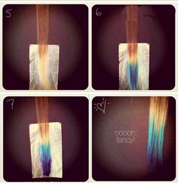 آموزش تصویری رنگ کردن فانتزی موها جدید
