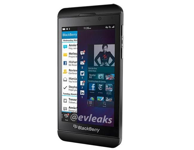 تصویری از BlackBerry Z10 به بیرون درز کرد
