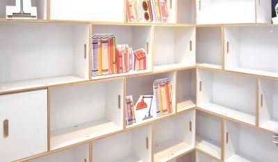 کتابخانه زیبا و بزرگ قابل حمل + تصاویر