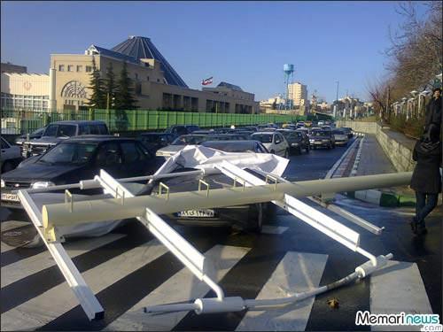 حادثه آفریدن تبلیغات شهرداری تهران + تصاویر