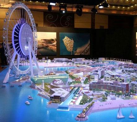 بزرگترین چرخ و فلک دنیا در دبی + تصاویر