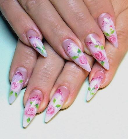 Дизайн ногтей фото с розами