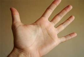کف دست شما چه رنگی است...؟