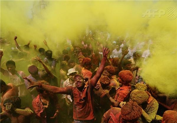 «جشن رنگها» در هندوستان