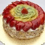 کیک میوه ای سریع و راحت