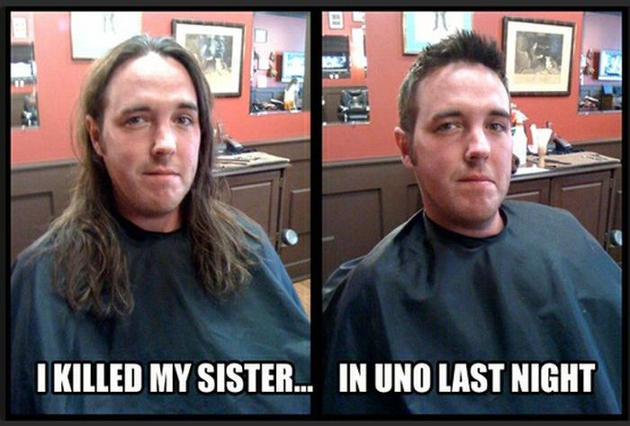تغییر قیافه افراد بعد از کوتاه کردن موی سر