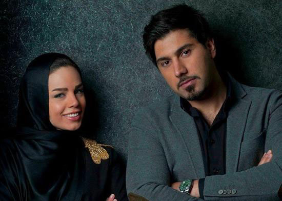احسان خواجه امیری و همسرش + عکس