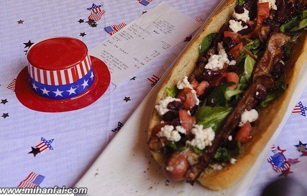 ساندویچ 7 میلیون تومانی + عکس