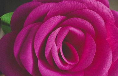 آموزش تصویری ساخت گل رز کاغذی