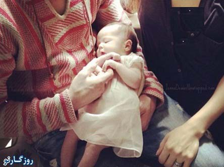 اولین تصویر از فرزند جذاب ترین مرد دنیا