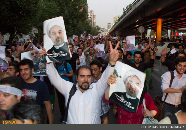 عکس جشن پیروزی روحانی