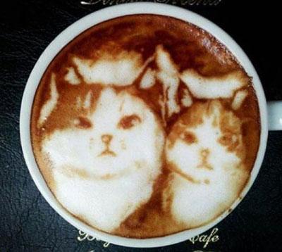 هنــرنمایی با شیــر و قهوه