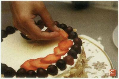 تزئین هندوانه به شکل کیک