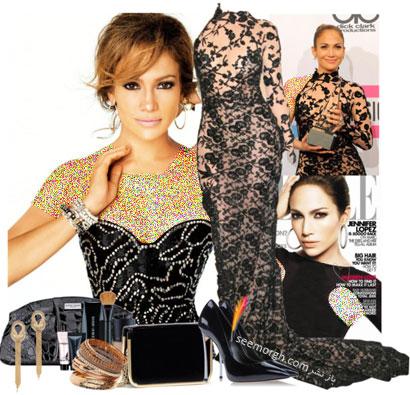 گلچینی از بهترین لباس های شب Jennifer Lopez
