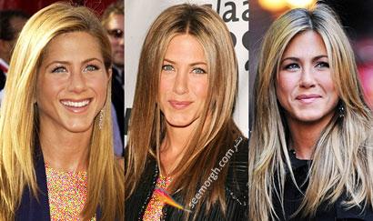 انواع مدل مو Jennifer Aniston