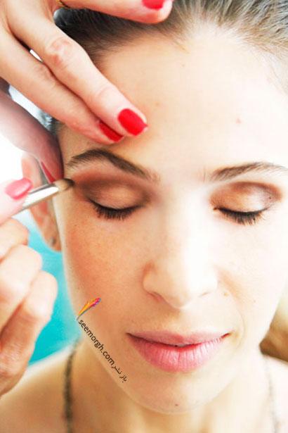آموزش تصویری گام به گام آرایش چشم