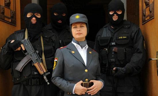 لعیا زنگنه در لباس نظامی