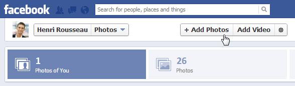 اشتراک گذاری و اضافه کردن عکس و فیلم در فیس بوک