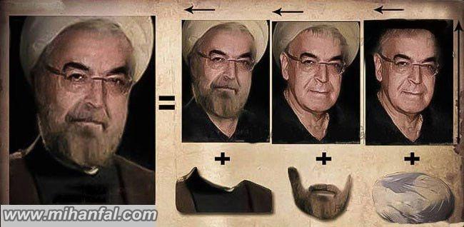 شباهت جالب بازیگر مشهور به حسن روحانی+عکس