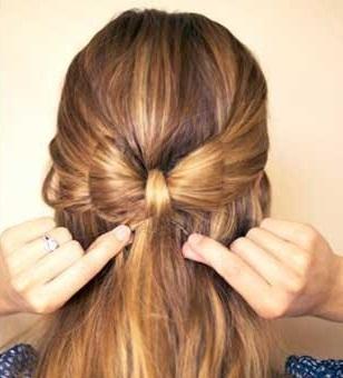 آموزش تصویری درست کردن مدل موی پاپیونی