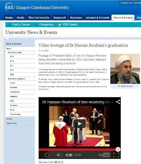 فیلم فارغ التحصیلی حسن روحانی منتشر شد + عکس
