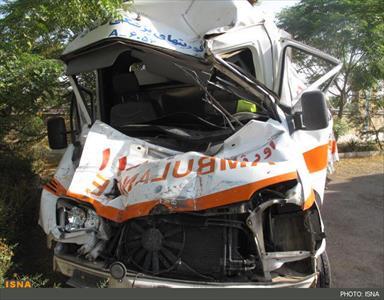 کامیون، آمبولانس اورژانس را له کرد +عکس