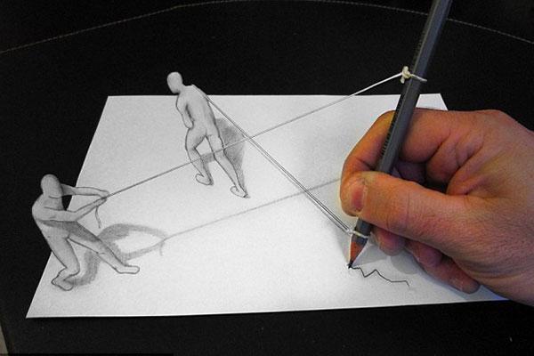 نقاشی های سه بعدی زیبا + تصاویر