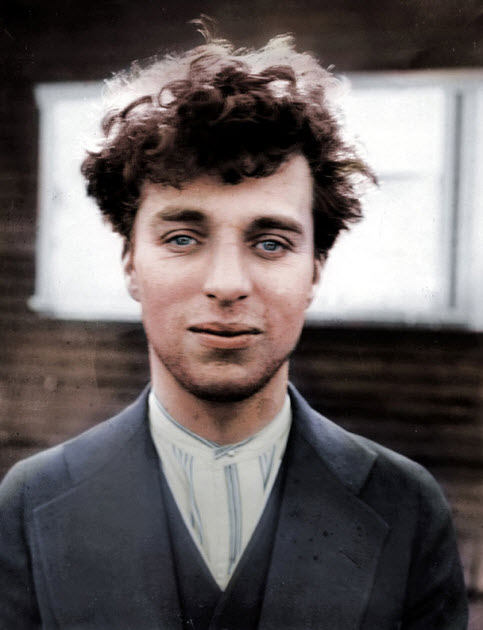 عکسی از دوران جوانی چارلی چاپلین