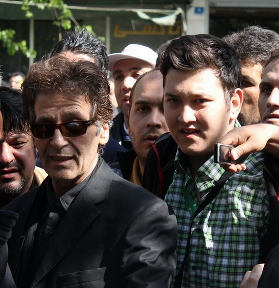 ابوالفضل پورعرب و پسرش+ عکس