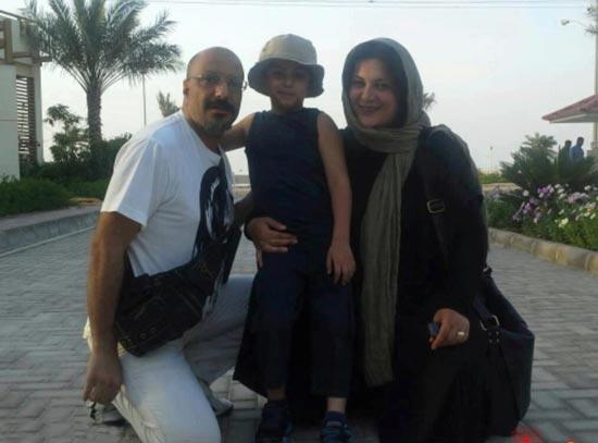 عکسی از امیر جعفری در کنار همسر و فرزندش