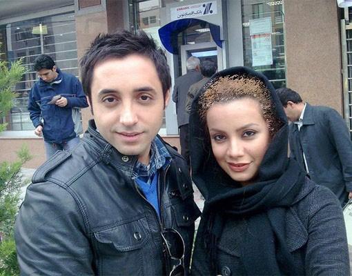 عکس امیر حسین رستمی در کنار همسرش