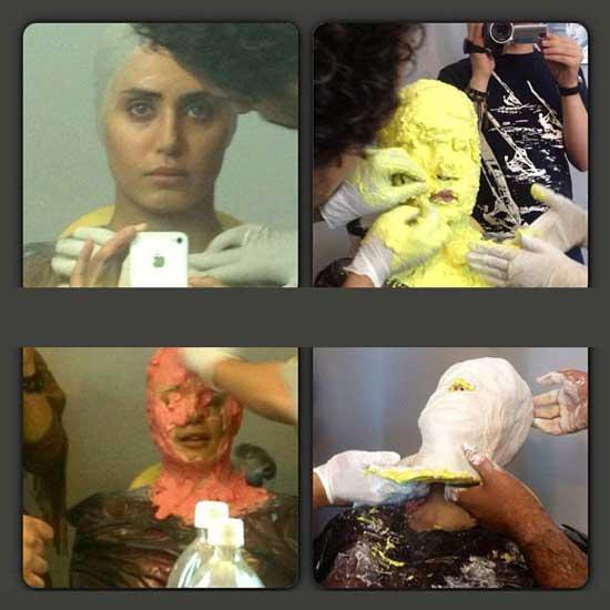 عکسی از گریم بسیار وحشتناک الناز شاکردوست