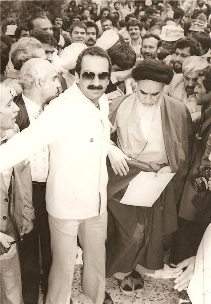 بازیگر مشهور سینما در کنار امام خمینی(ره) +عکس
