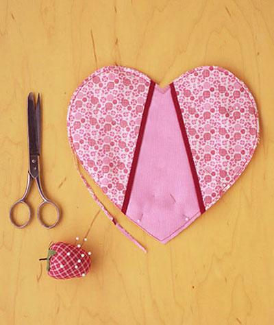 آموزش تصویری درست کردن دستگیره آشپزخانه به شکل قلب